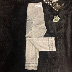 BEBE CROPPED SPORT LEGGINGS